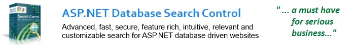ASP.NET Database Search Control