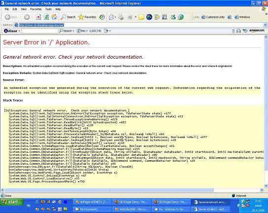 Default ASP.NET error message