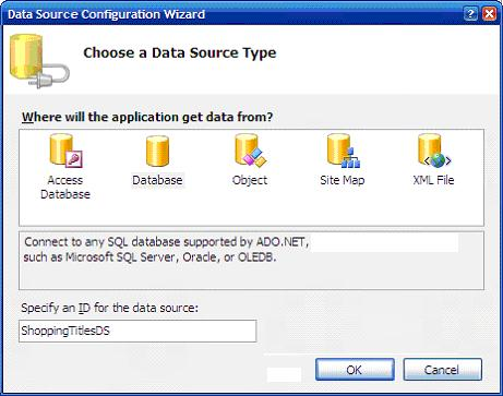Choosing a data source for populating combo with shopping titles